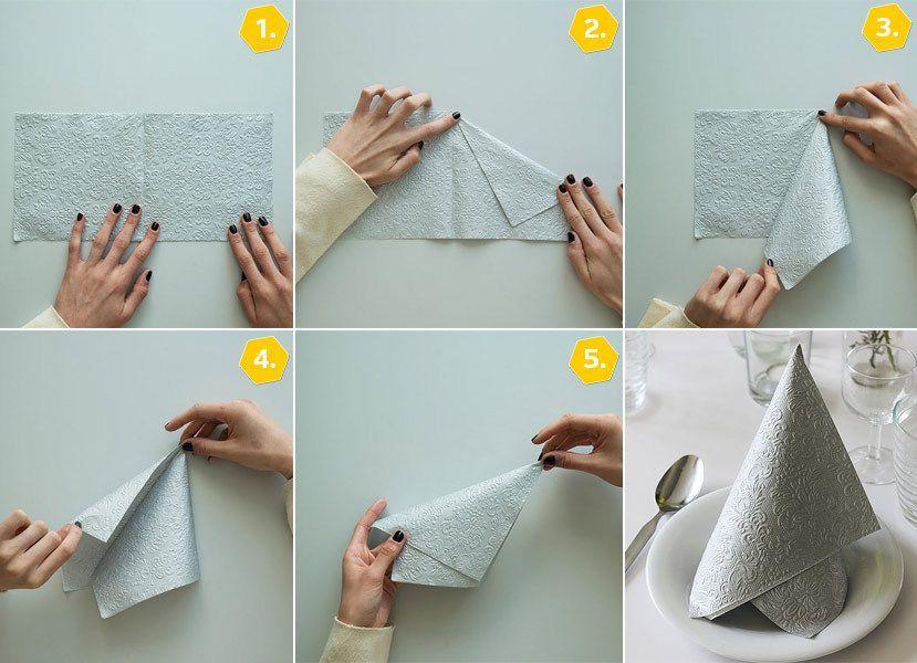 servietten falten einfach 15 anleitungen f r jeden anlass video folding tables and napkins. Black Bedroom Furniture Sets. Home Design Ideas