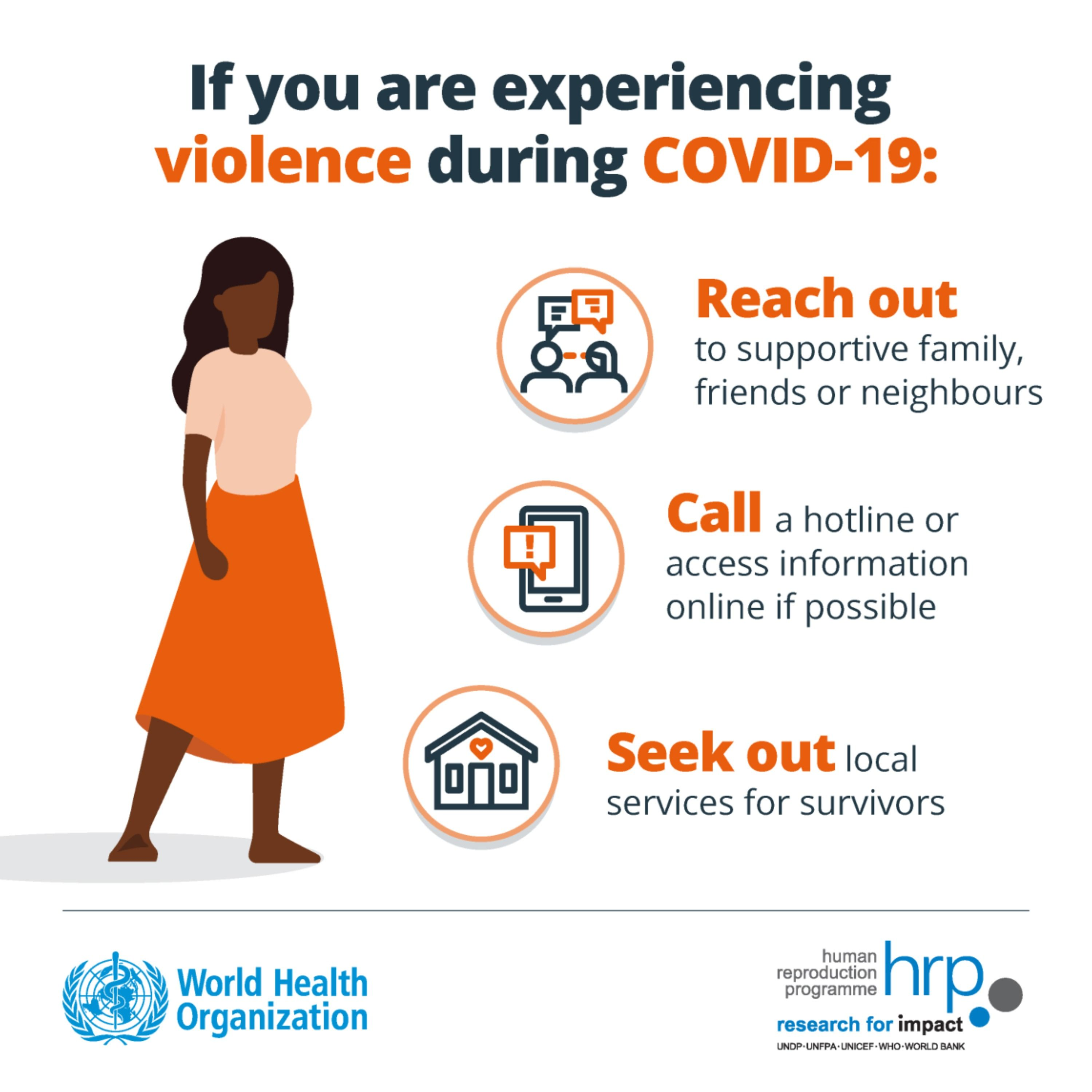If You Are Experiencing Violence During #COVID19: 🤝 Reach