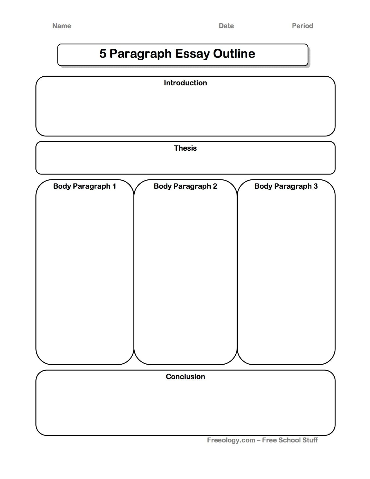 Great 5 paragraph expository essay graphic organizer i for Prewriting outline template