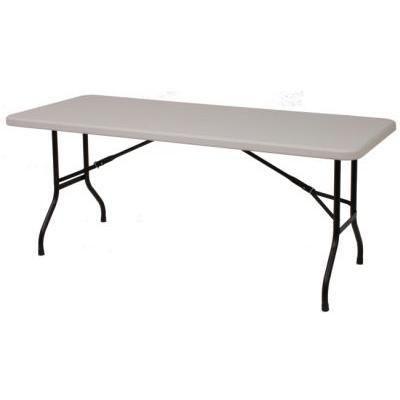 6ft (Fold In Half) Plastic Trestle Table