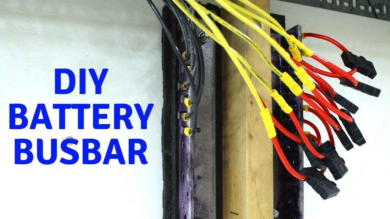 Making Busbars Wiring Batteries Together Diy Powerwall Chevy Volt In Parallel