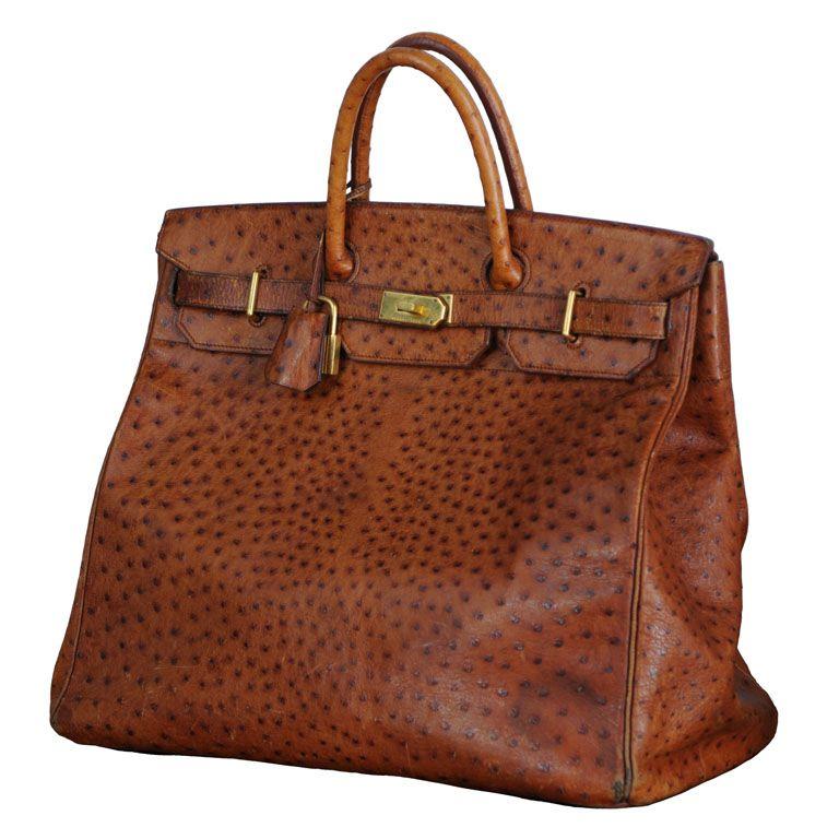 Hermes, Paris HAC Ostrich Travel Bag | Hermes paris, Bag ...