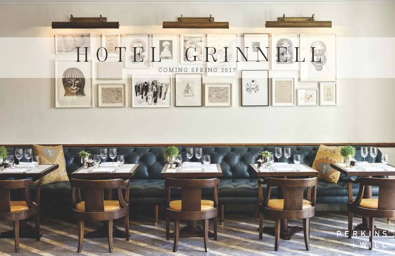 Hotel Grinnell Opening In Iowa Summer 2017