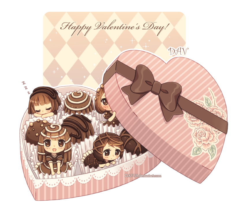 Box Of Chocolates Anime Chibi Kawaii Chibi Chibi