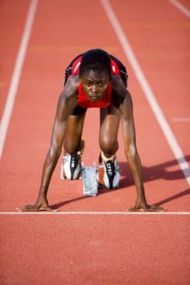 standing and start techniques in sprinting  leg muscles