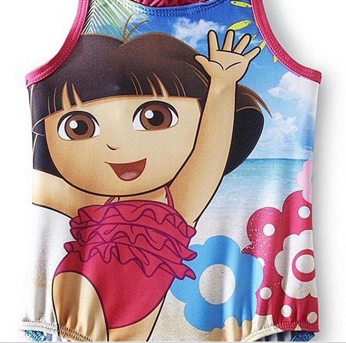 04d46387f47e0 Dora the Explorer Toddler Girl's One-Piece Swimsuit size 4T NeW Bathing Suit.  $11.99