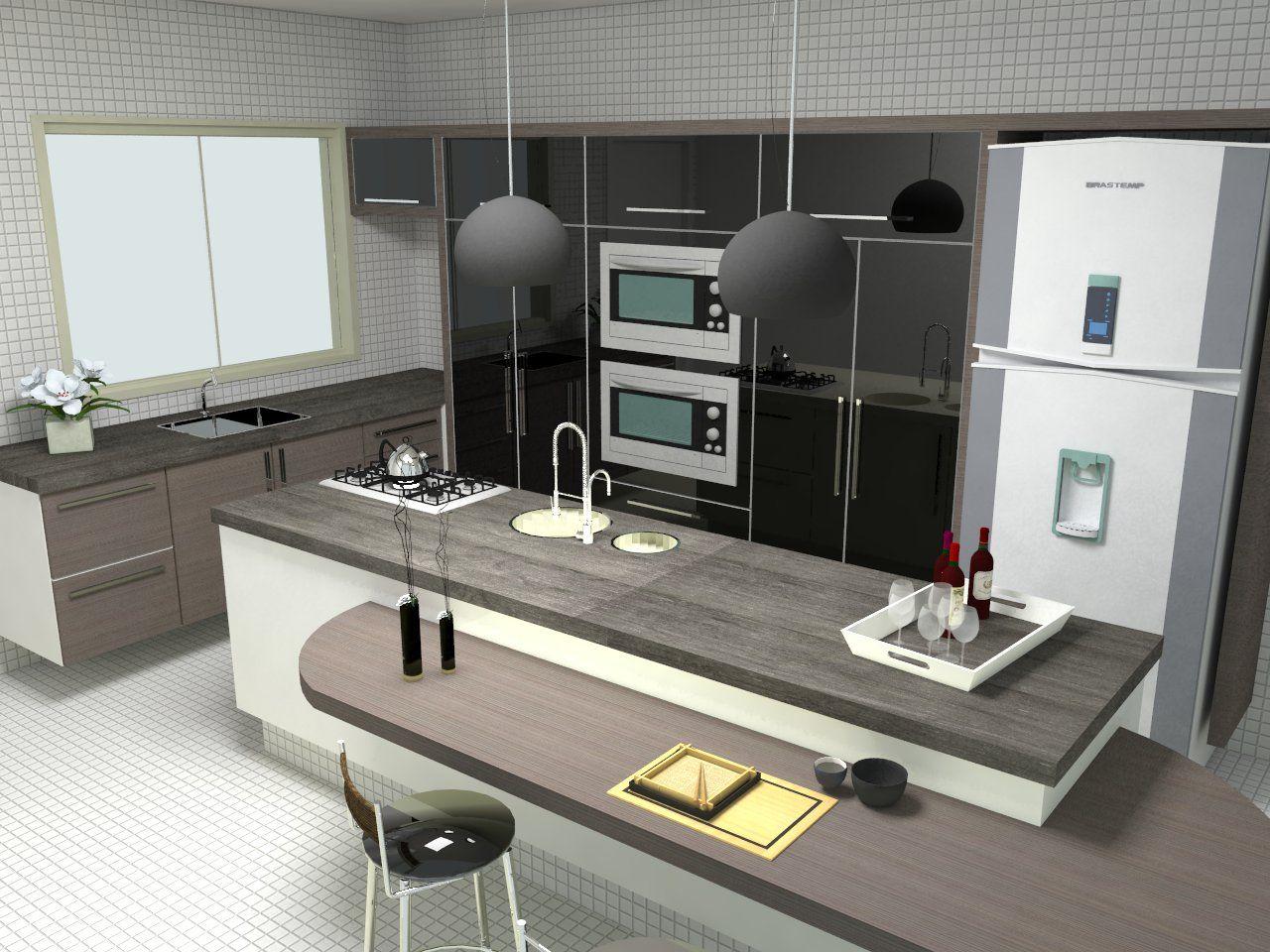 Casas Modernas Interiores Cozinha Bancada Para Refeies Na Cozinha