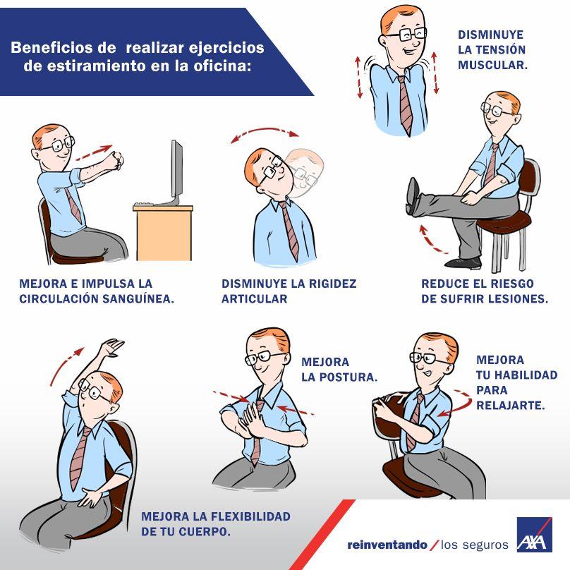 ejercicios de estiramiento en la oficina baby