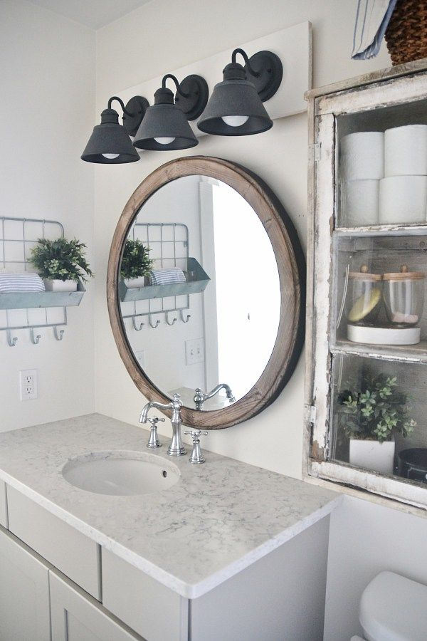 Diy Farmhouse Bathroom Vanity Light Fixture Bathroom Farmhouse