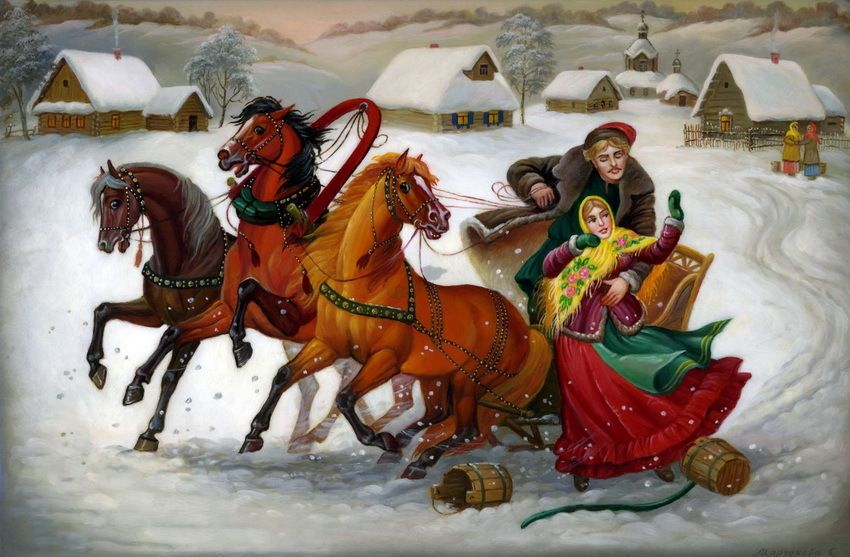 Russian lacquer miniature - Fedoskino The village of Fedoskino, located 40 kilometers to the north from Moscow on the bank of river Ucha, is Russia's oldest center of lacquer miniature painting.