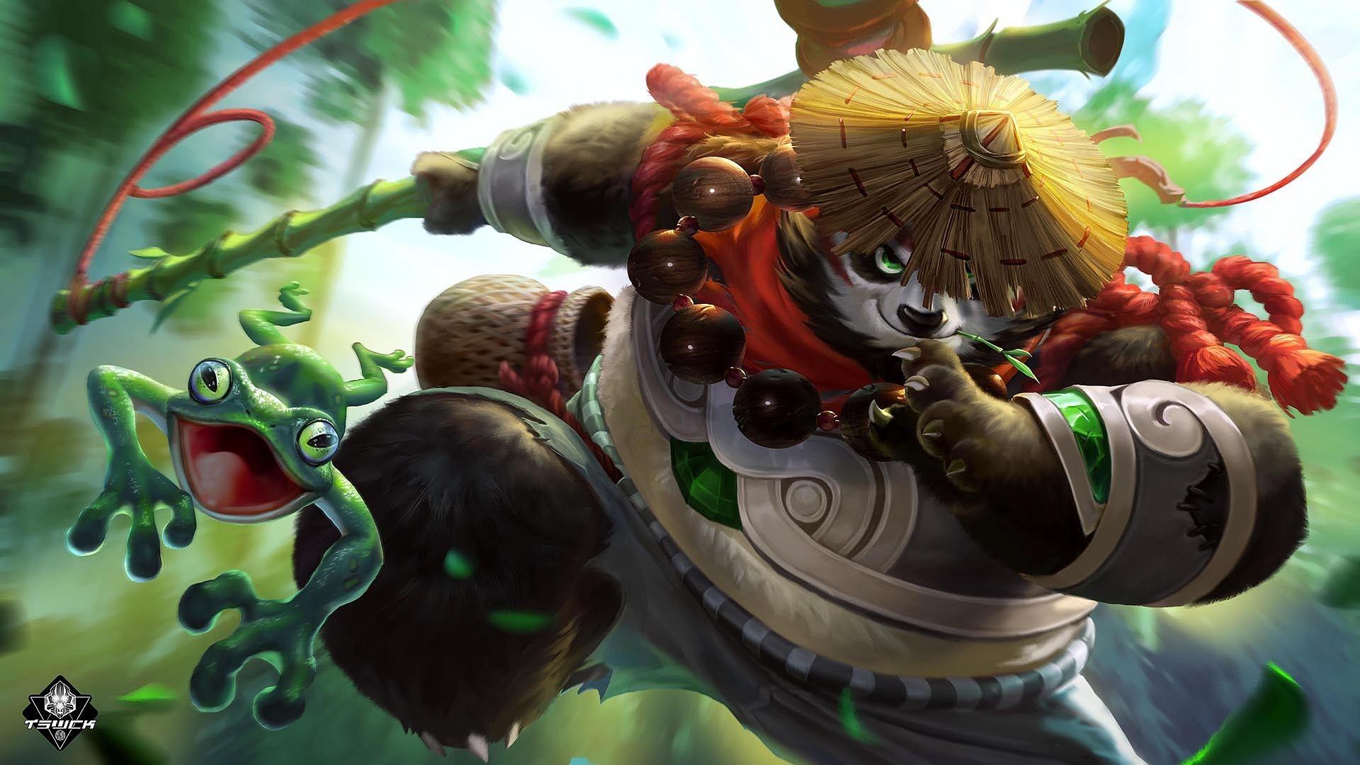 Artstation Mobile Legends Akai T Swck Gambar Chibi Pertempuran