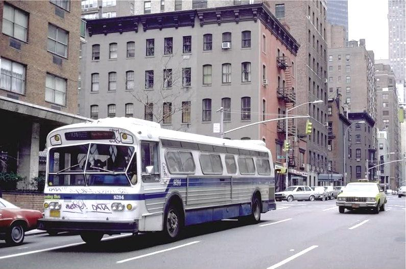 Nyc Bus Vintage Photo Vintage Buses Buses Trains