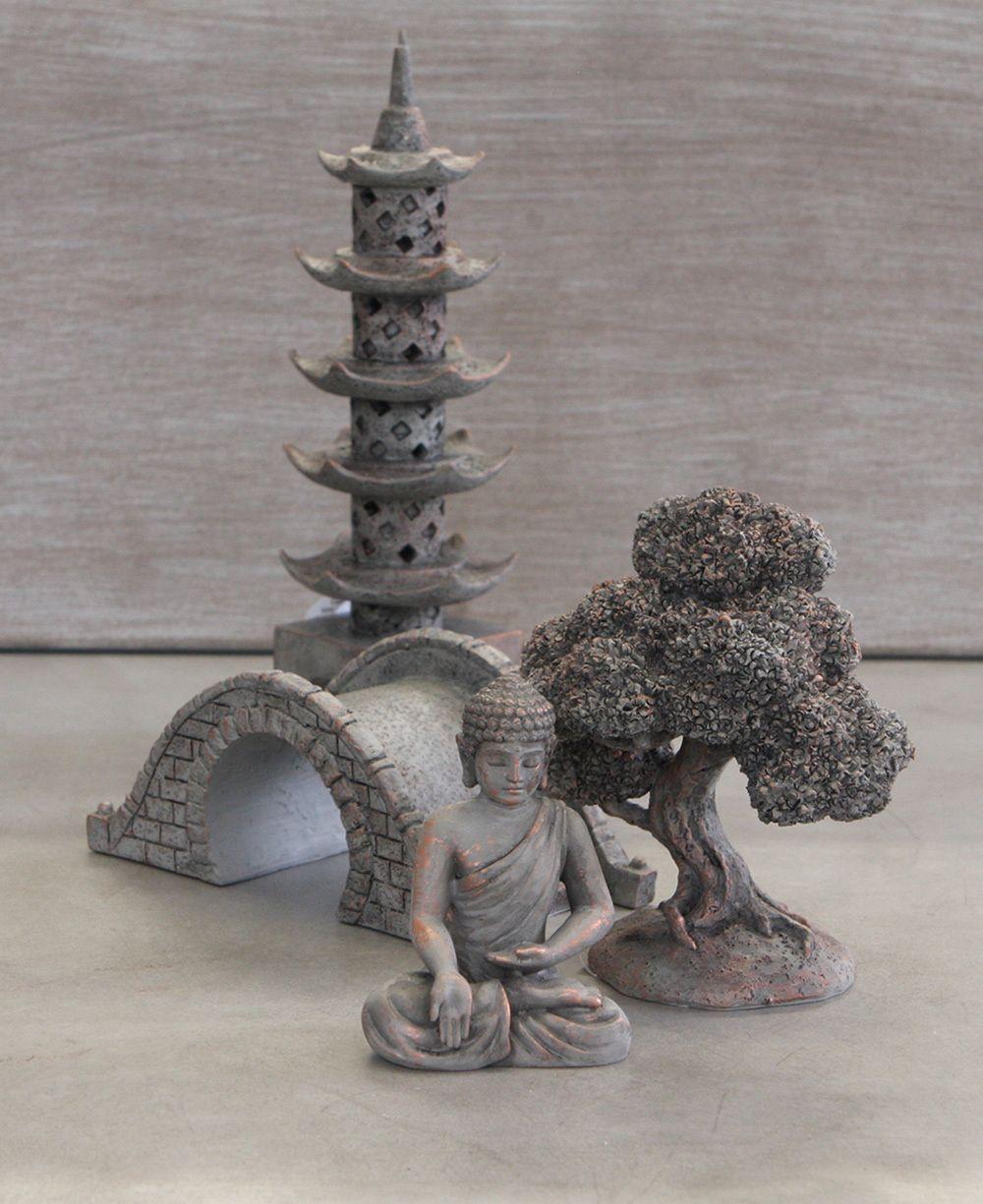 Buddha garden oasis set miniature statue zen garden set zen pinterest buddha garden - Zen garten miniatur set ...