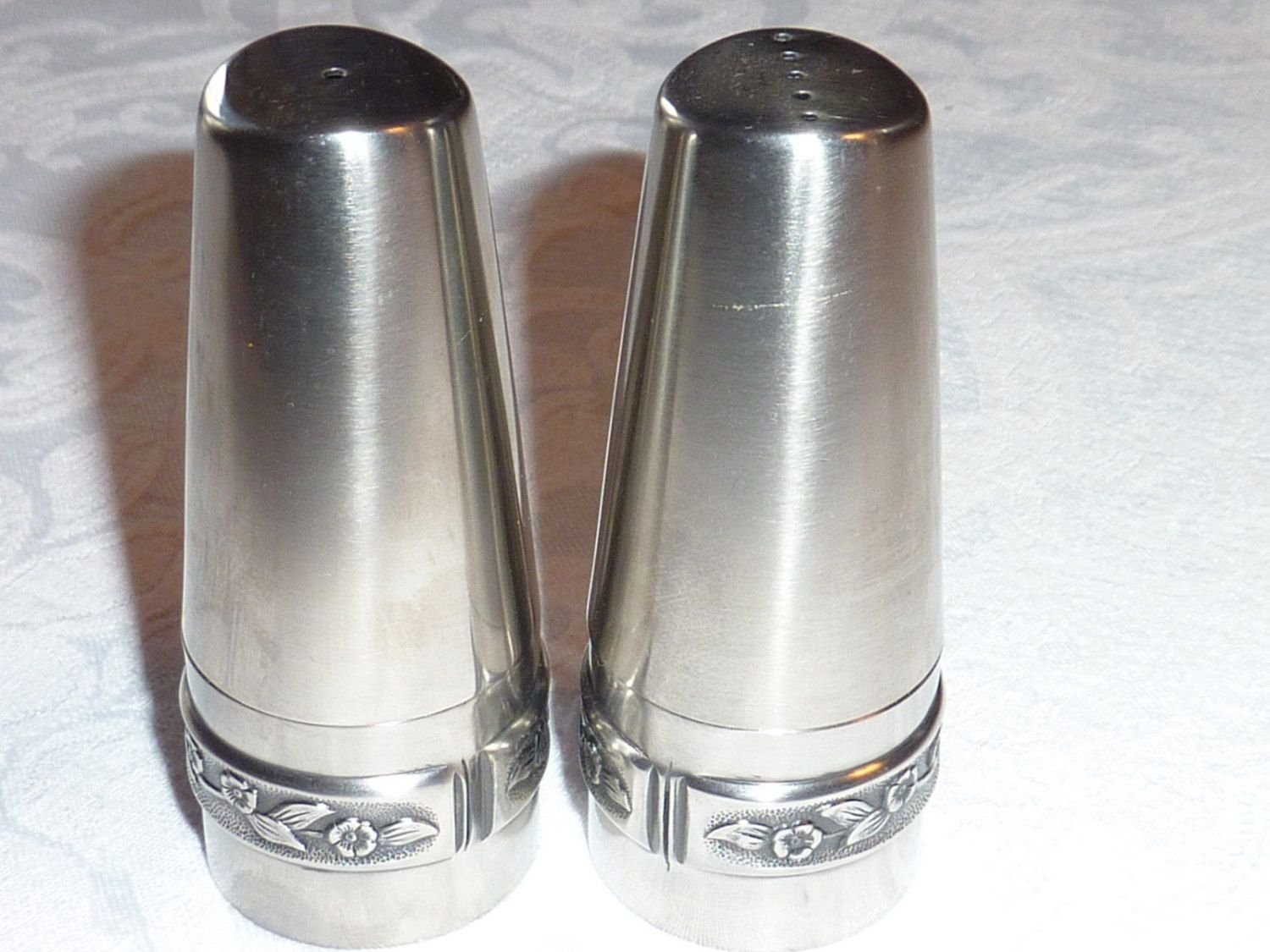 Vintage Stainless Steel S P Shakers By Rogers 18 8 Etsy Vintage Stainless Shakers Vintage
