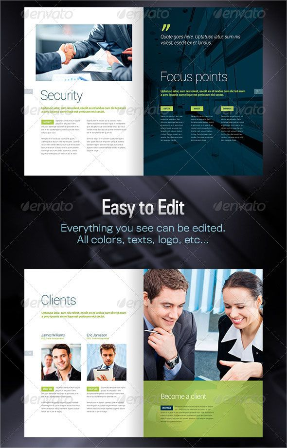 Free Professional Brochure Template Psd Designs  Brochures