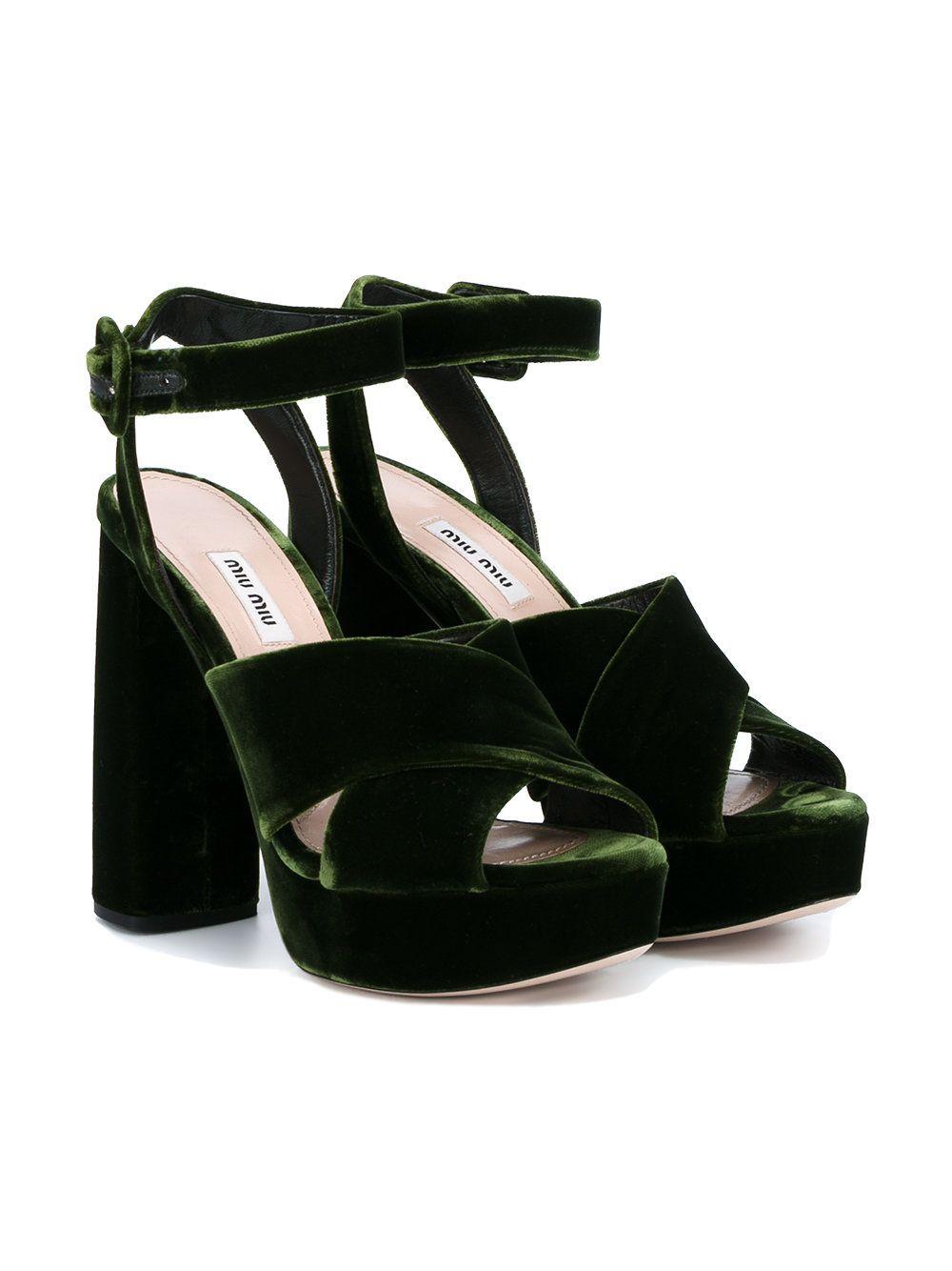 be4b39659060 Miu Miu velvet platform sandals