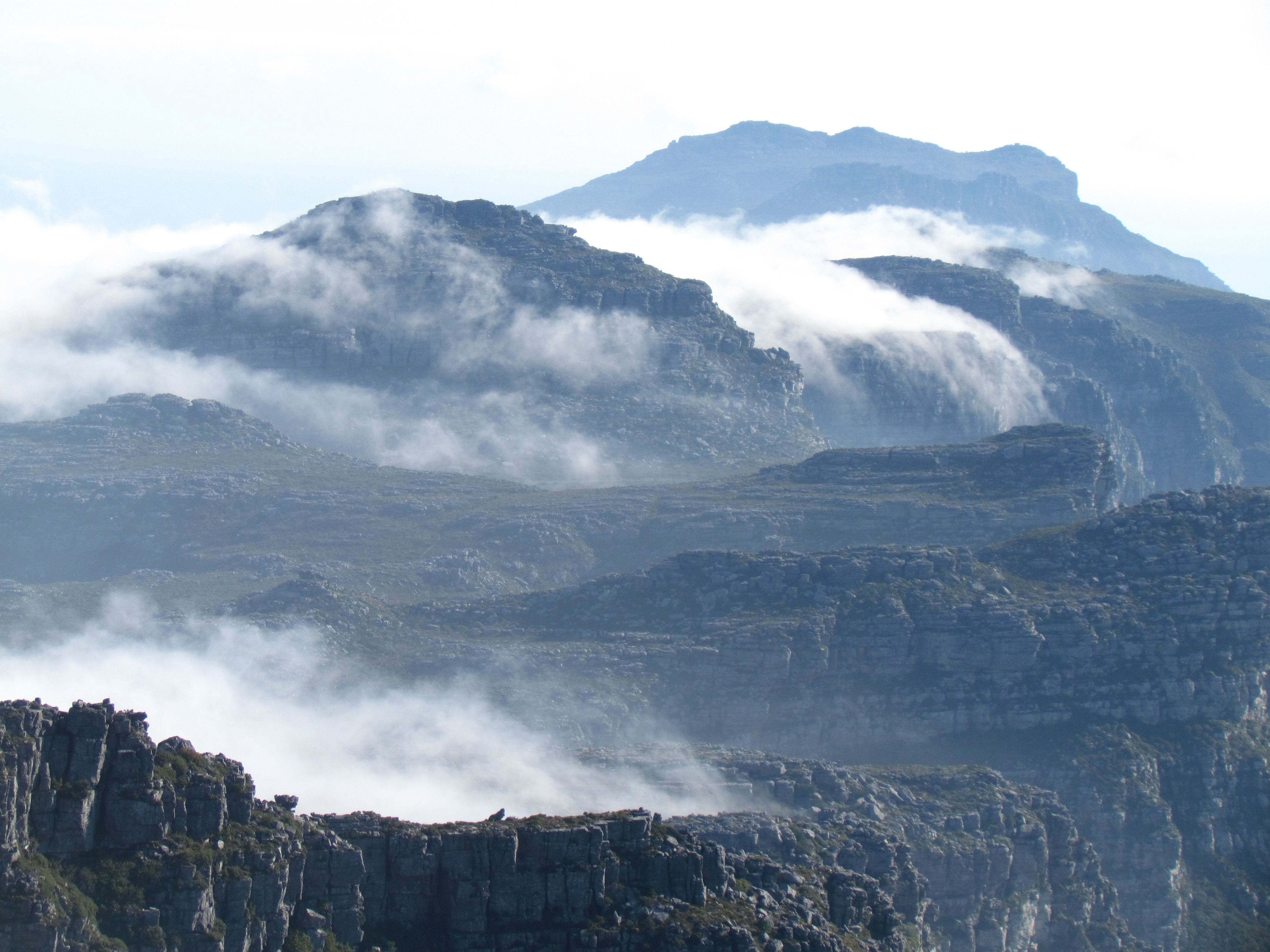 Mist coming in on Table Mountain, Cape Town