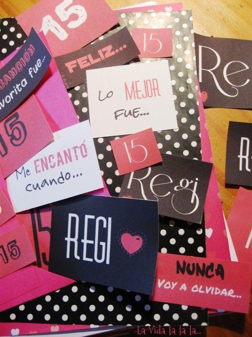 La Vida lalala...: Album de recuerdos, pegotines personalizados