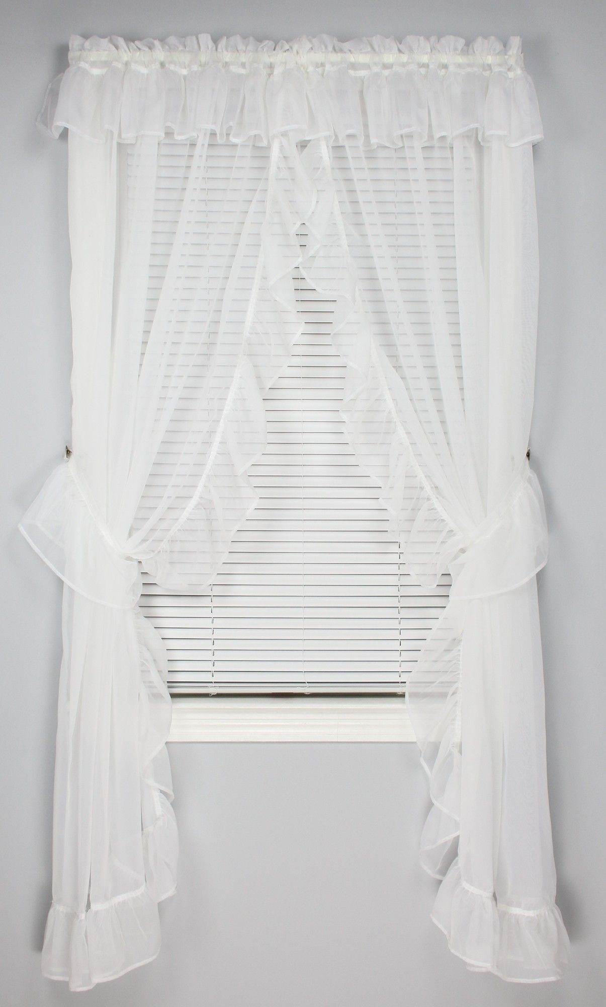 Madrid One Rod Priscilla Curtain White Priscilla Curtains