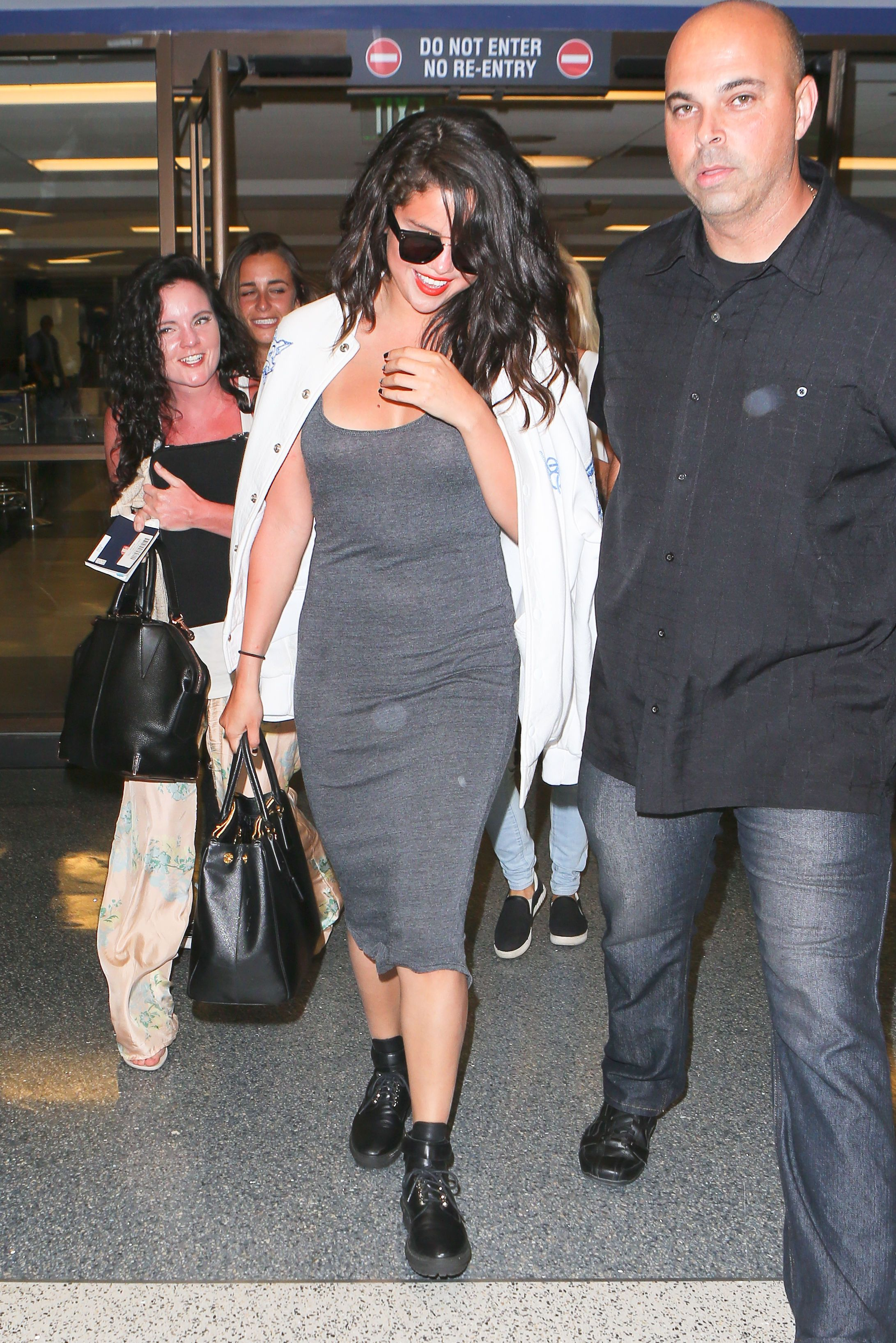 Selena Gomez arriving at LAX airport in LA - April 19 2015