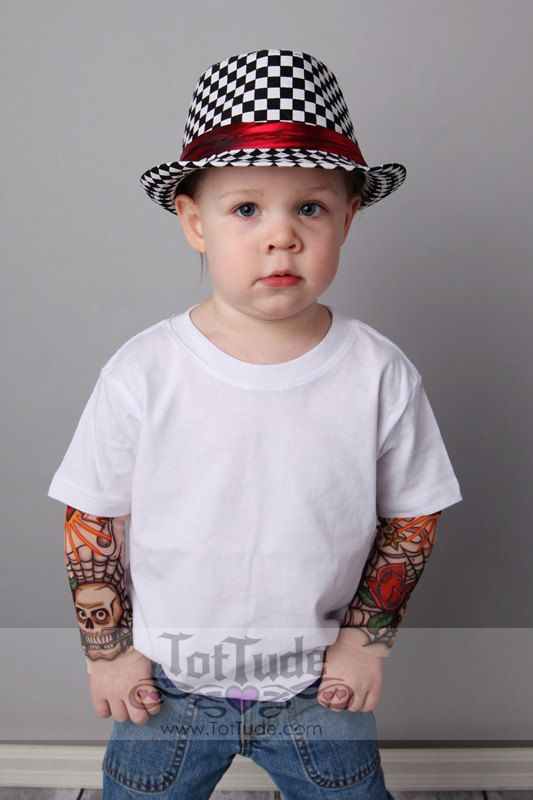 5be0e65e9 Tattoo Sleeve White T Shirt for Babies and Toddlers by TotTude, $24.00 8531  Santa Monica Blvd West Hollywood, CA 90069 - Call or stop by anytime.