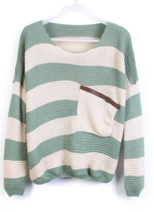 stripe sweater. pair it with some denim cutoffs.