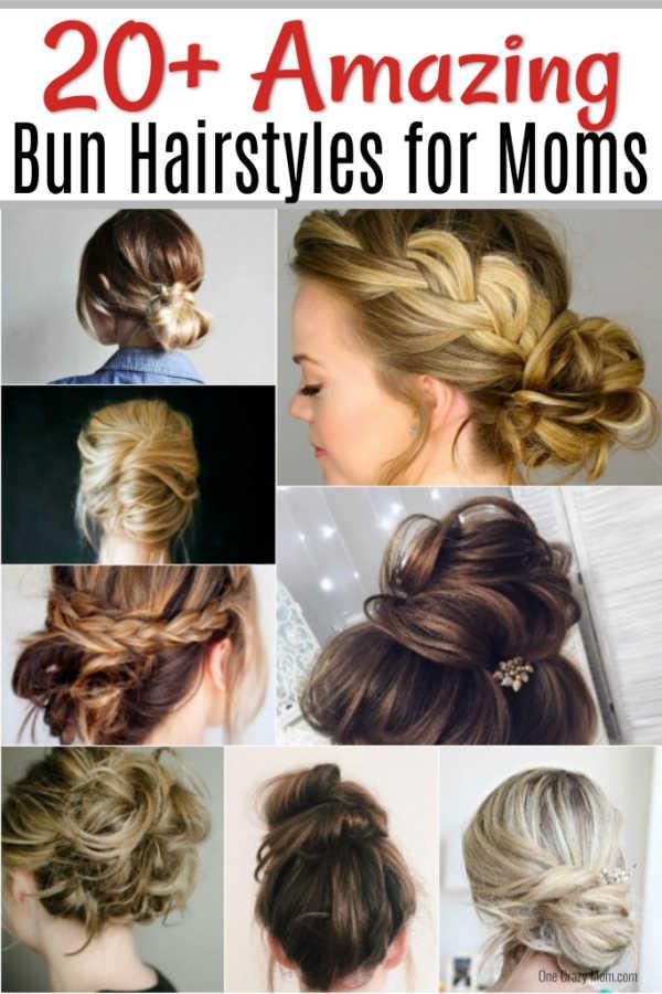 Cute Bun Hairstyles Messy Bun Hairstyles For Moms In 2020 Cute Bun Hairstyles Bun Hairstyles For Long Hair Bun Hairstyles