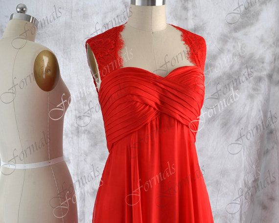 Red Bridesmaid Dresses Red Long Prom Dress Red by Formals on Etsy, $139.00
