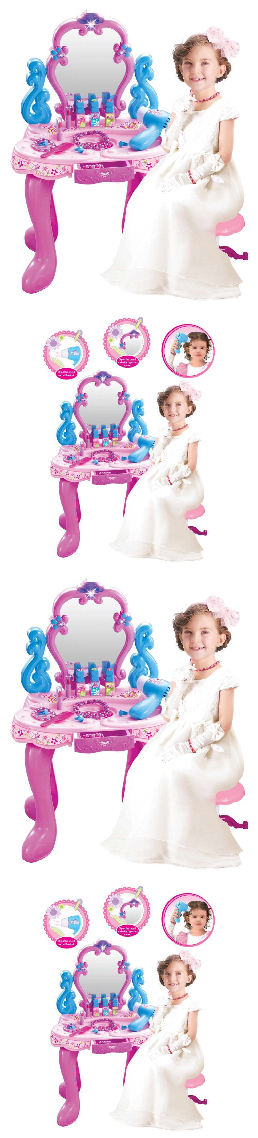 Other Preschool And Pretend Play 19181: Girls Portable Beauty Vanity Play  Set Pretend Play Dressing