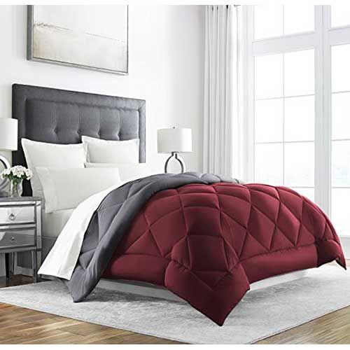 7.best Comforters For Hot Sleepers: Sleep Restoration Goose Down  Alternative Comforter   Reversible