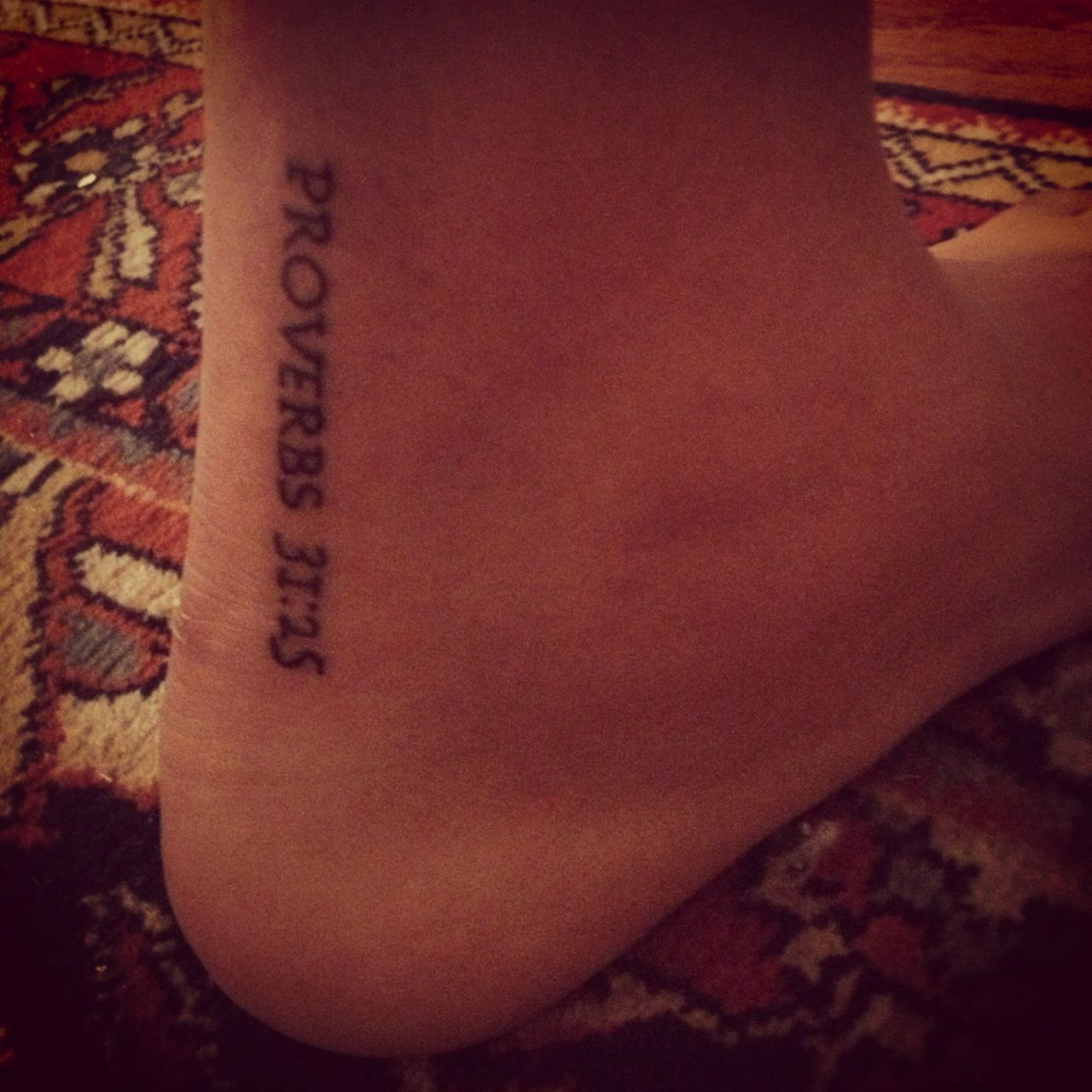 """Tatoos She Is Clothed With Strength And Dignity: """"She Is Clothed In Dignity And Strength, And Laughs"""