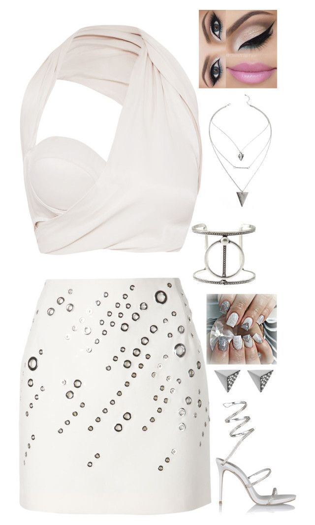 """""""Pretty Young Thing"""" by dragongirl145 ❤ liked on Polyvore featuring Thierry Mugler, Charlotte Russe, Ileana Makri and René Caovilla"""