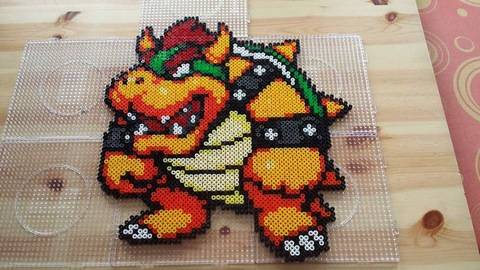 bowser mario aus b gelperlen hama perler beads ilyas. Black Bedroom Furniture Sets. Home Design Ideas