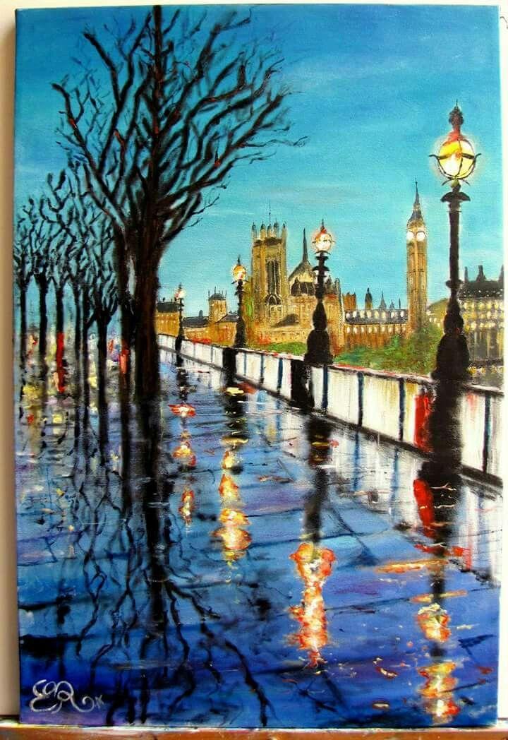 Rain in London _oil on canvass_