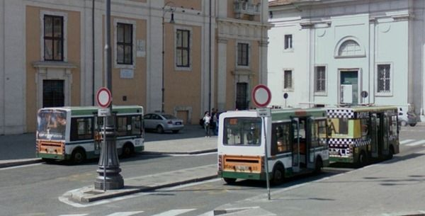 The #117 bus parked at San Giovani - end of route ...