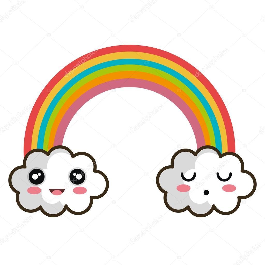 50pcs Ni/ños cute print arco iris