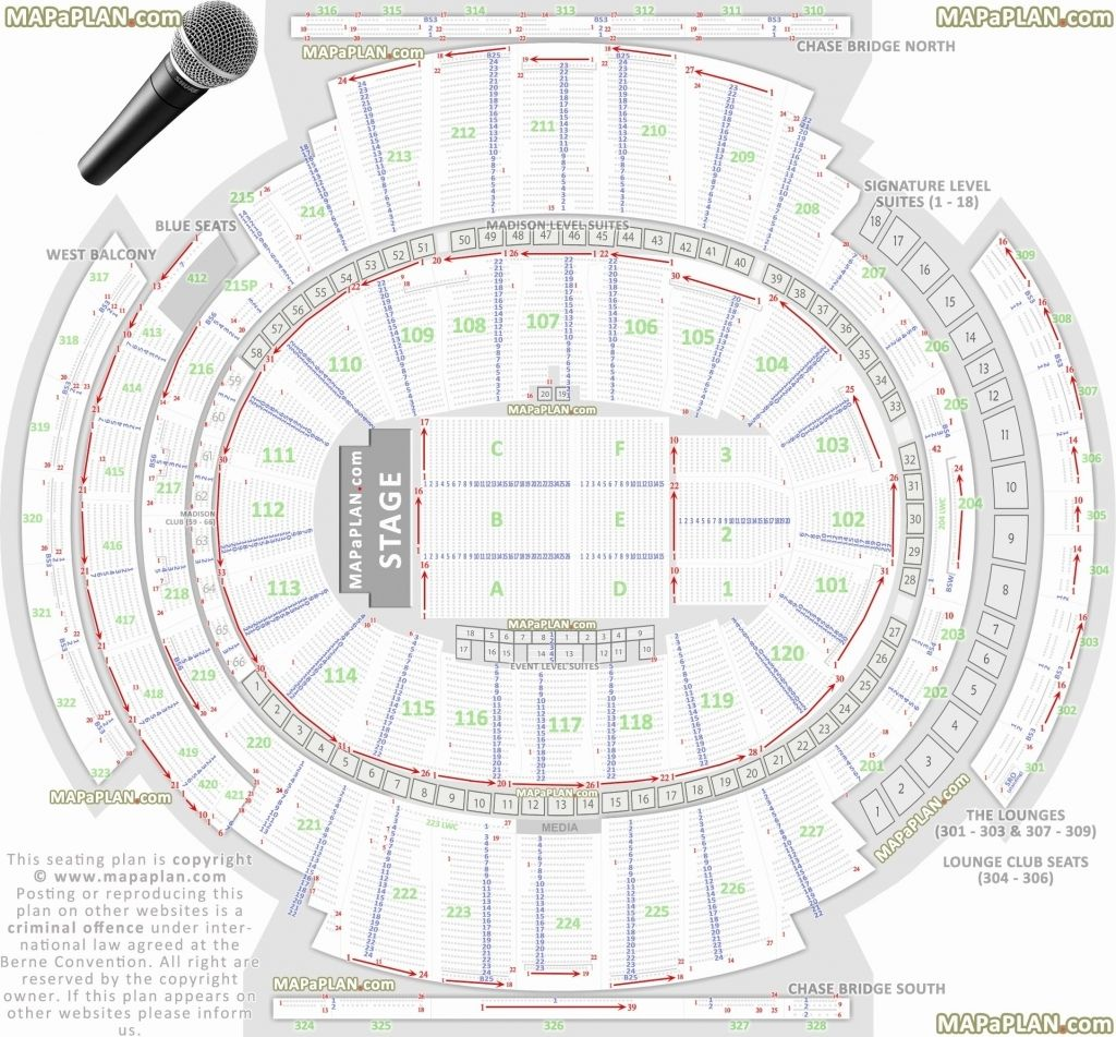 Elegant Msg Seating Chart With Seat Numbers