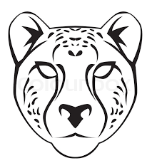 Image Result For Black And White Cheetah Mask Template Cheetah Face Cheetah Drawing Illustration Design Poster