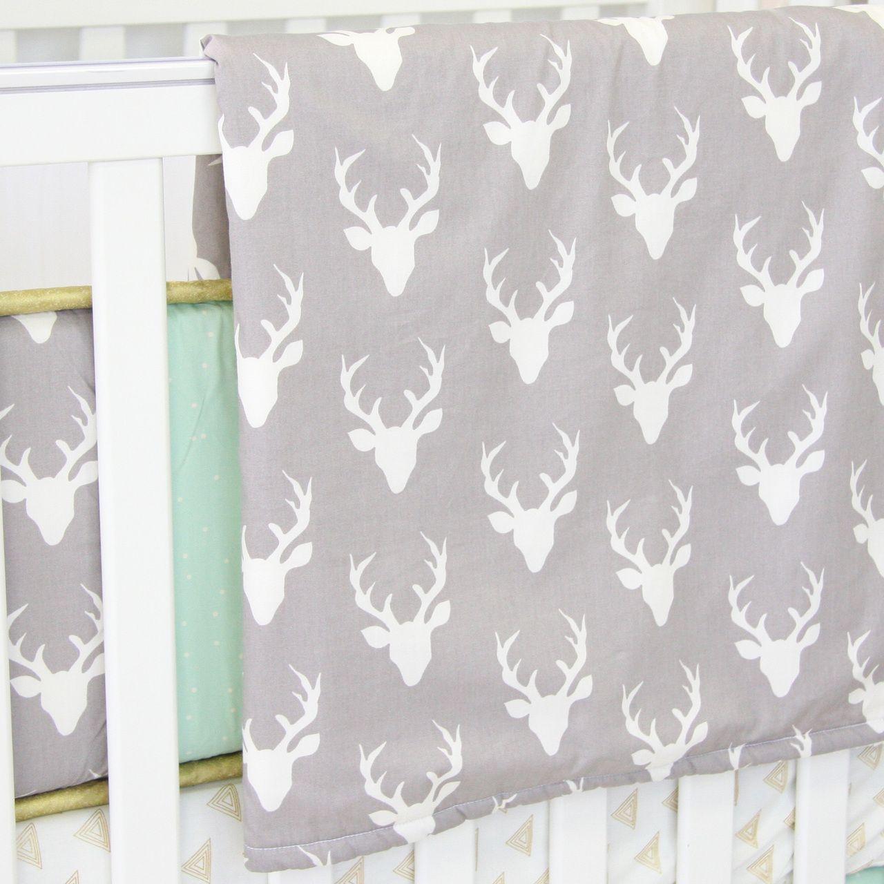 Caden Lane Baby Bedding Blanket Woodland Deer 49 00