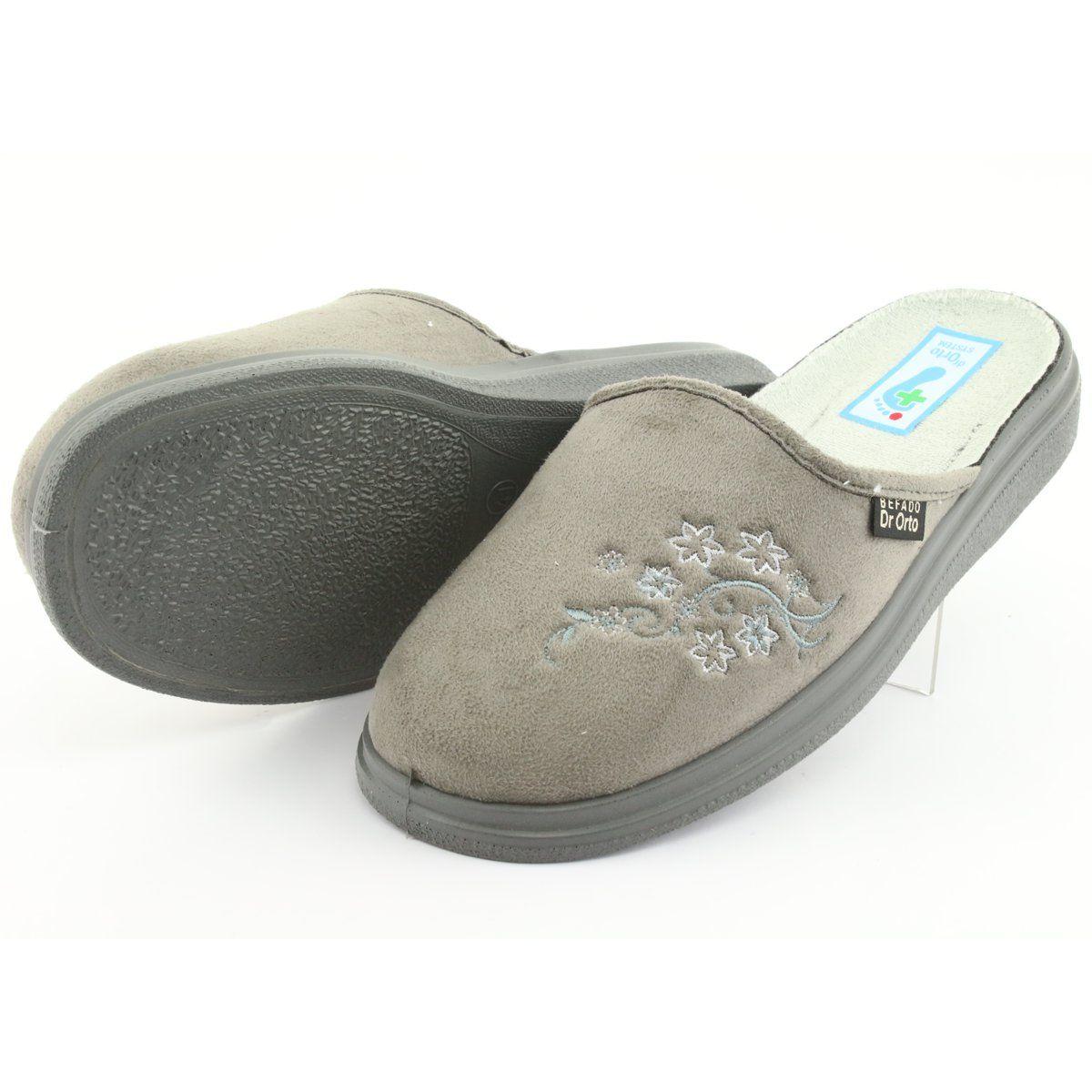 Befado Obuwie Damskie Pu 132d013 Szare Women Shoes Shoes Womens Slippers