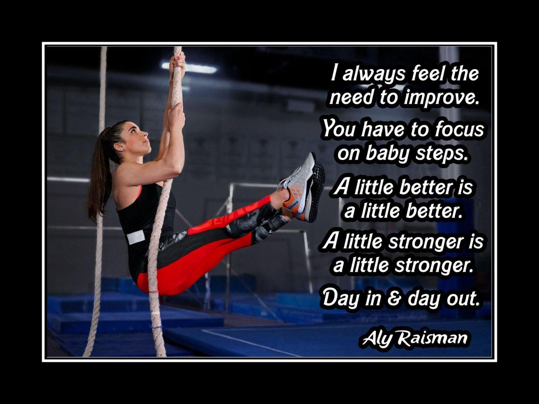 139a2aca12463 Gymnastics Motivation Poster Aly Raisman Photo Quote Wall Art 5x7-11x14