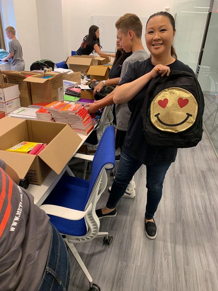 The Metlang Back To School Supply Drive Continues In New