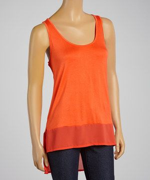 Look what I found on #zulily! Scarlet Hi-Low Racerback Tank by Zenana #zulilyfinds