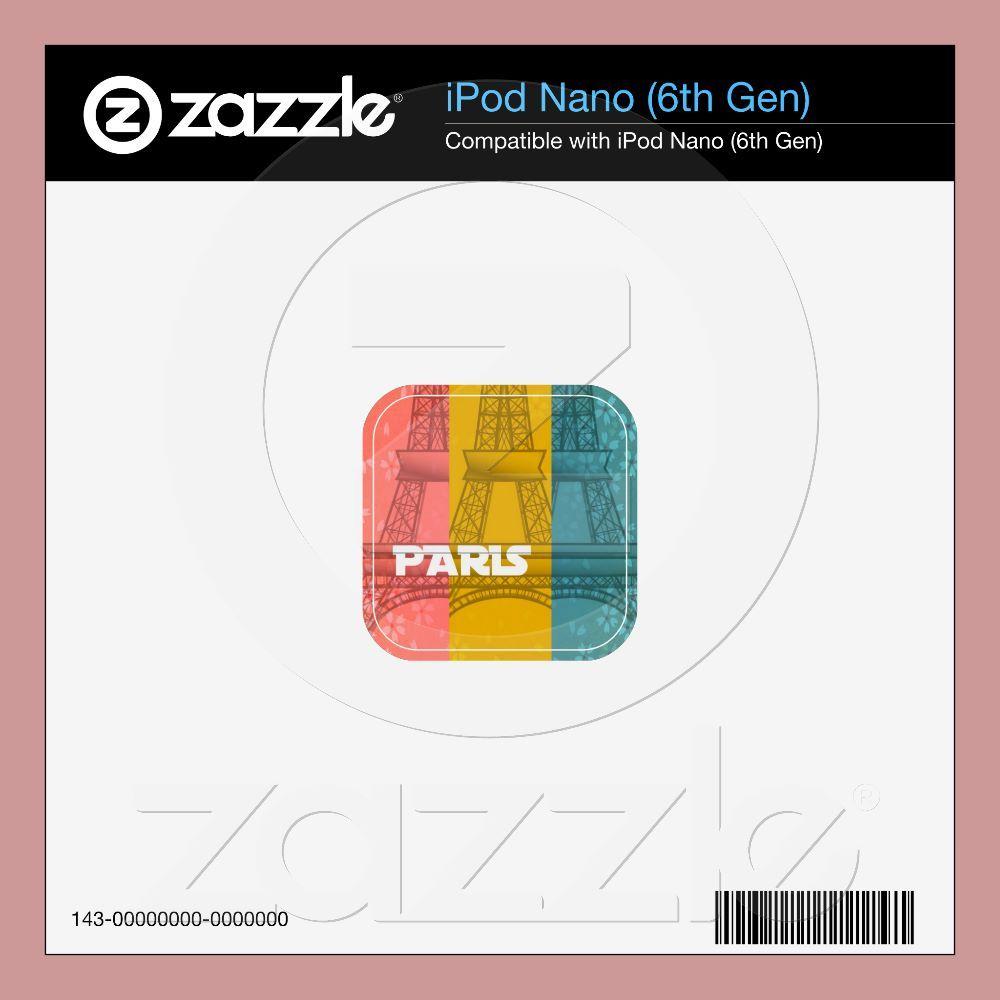 Paris Floral Skin For The Ipod Nano 6g  (write a review)  In stock!  Quantity:  zazzle skin.  Wishlist  $22.75  per zazzle skin