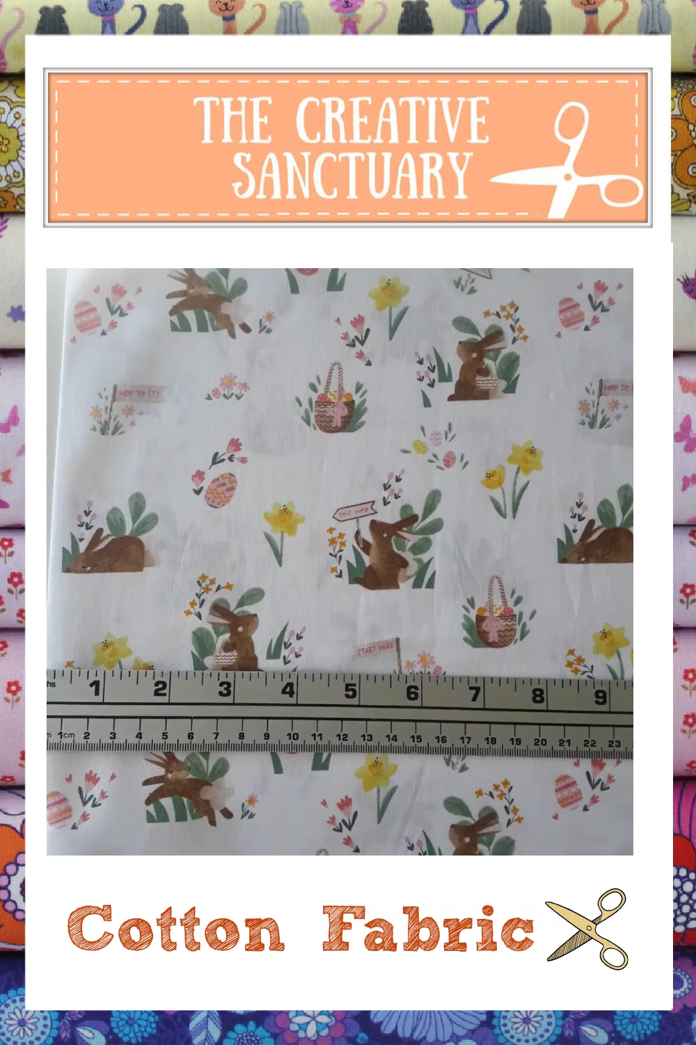 Sold by the yard Main White Riley Blake 100/% cotton fabric s Easter Egg Hunt C10270 WHITE