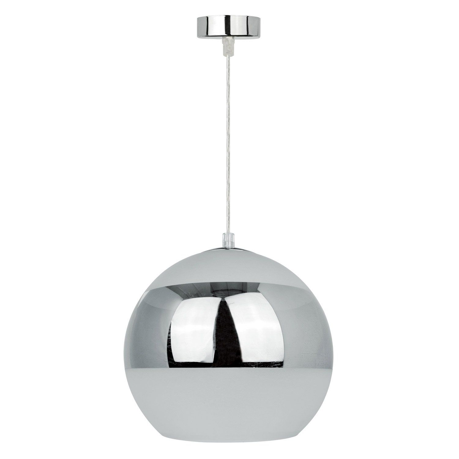 Suspension Design Baloa Métal Gris Argenté 1 X 60 W Inspire Suspension Design Suspension Leroy Merlin Luminaire