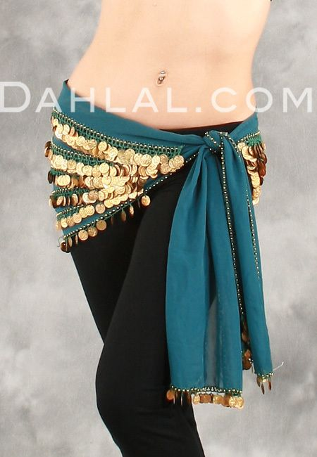 7a128281c Dahlal Internationale Store - FIVE-ROW EGYPTIAN COIN HIP SCARF, for Belly  Dance,