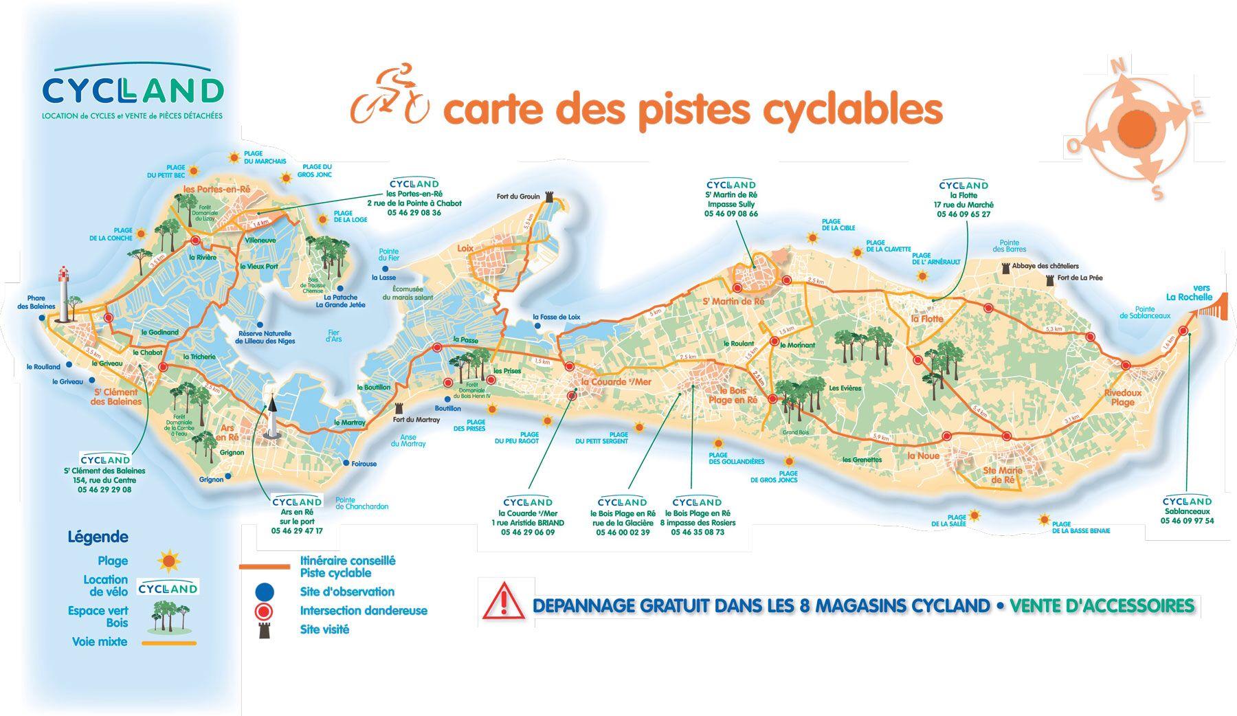 carte ile de ré piste cyclable Immagine di http://lesprises.com/wp content/uploads/2014/09/Plan