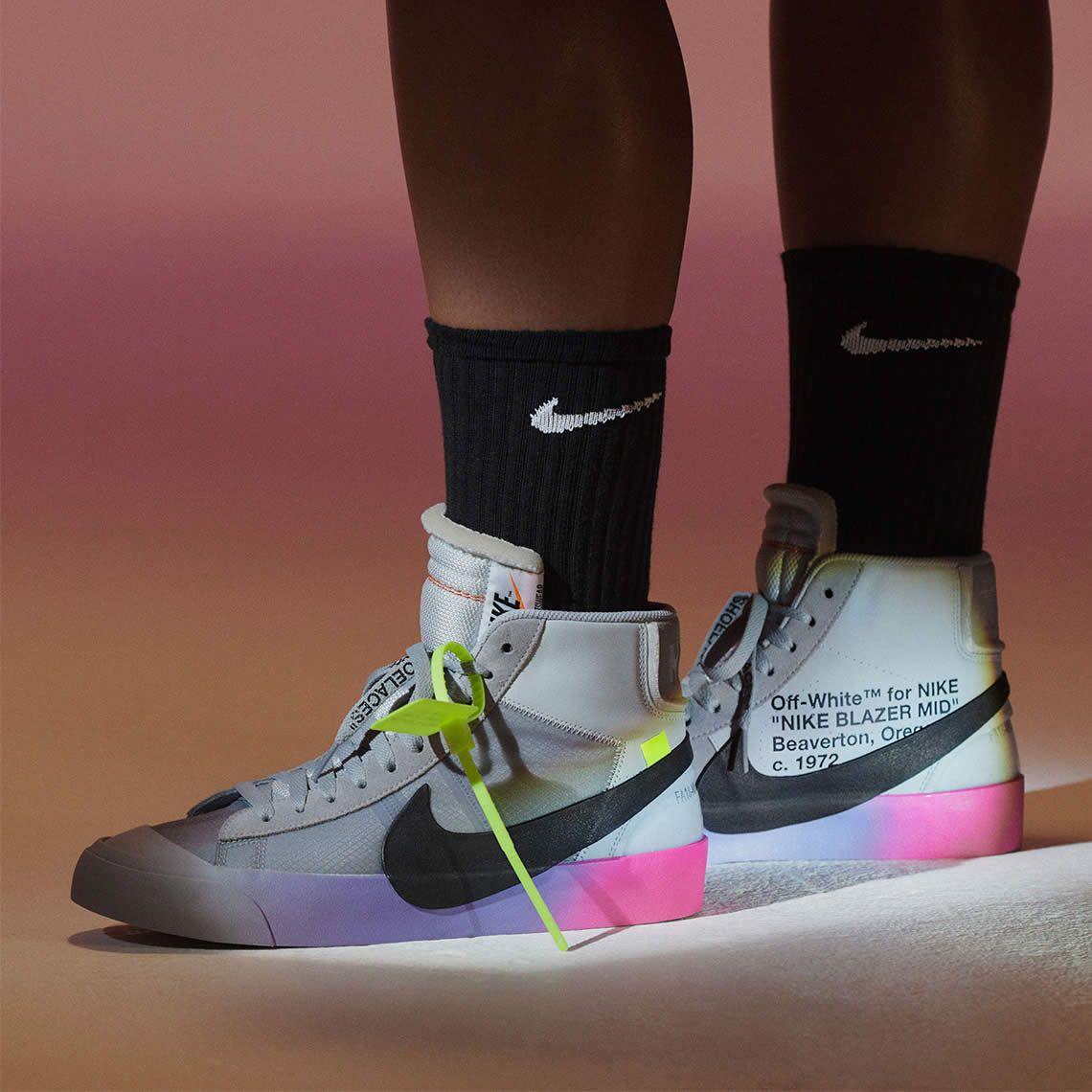 150282901e9a Serena Williams x OFF-WHITE x Nike Blazer Studio Mid  Queen  On Feet ...