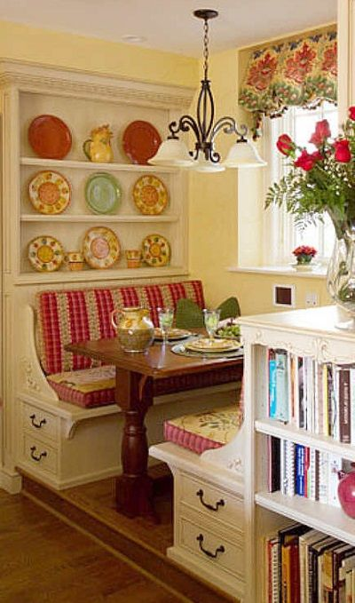 """Colorful Nook from """"Maximizing Kitchen Space--Add a Breakfast Nook"""""""